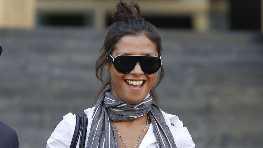 """Imane Fadil in Milan, Italy, in 2011. Italian prosecutors have opened an investigation into the March 1 death of the Moroccan model who testified in one of the inquiries linked to ex-Premier Silvio Berlusconi's """"bunga bunga"""" parties."""