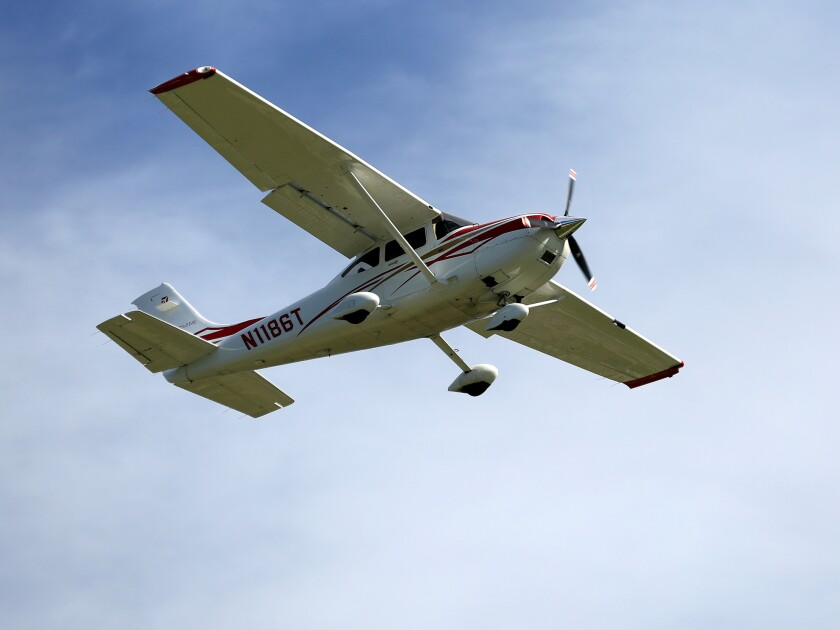 A Cessna 182T carrying a family of four crashed Sunday afternoon.