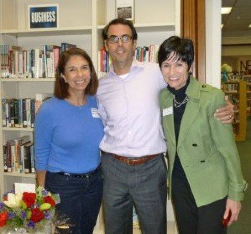 L-R: Susan Appleby, RSF Library Guild membership and development manager; Dr. Michael Rafii, director of the Memory Disorders Clinic and assistant professor at UCSD; and Lynn Mullowney, Alzheimer's Association associate director, Western region. Photo by Diane Y. Welch