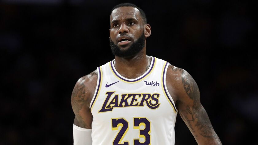 Los Angeles Lakers' LeBron James (23) during the second half of an NBA basketball against the Phoeni