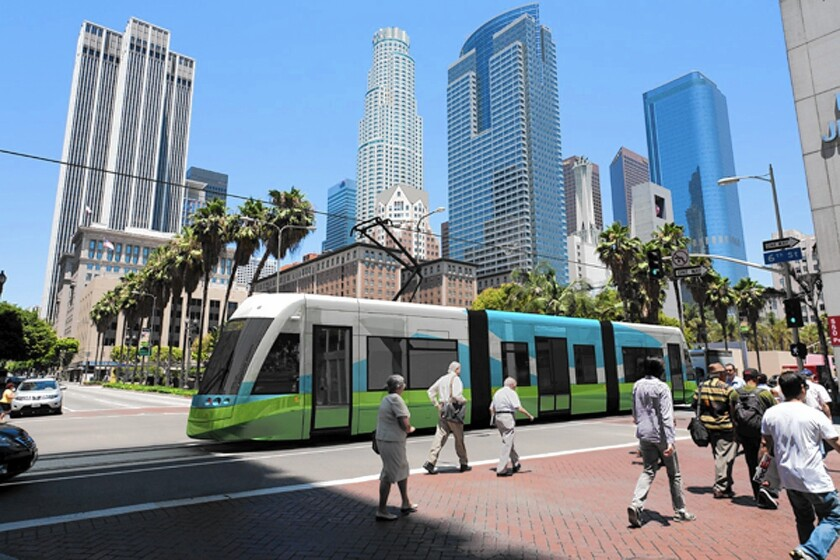 Downtown L.A. streetcar