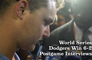 World Series Game 4 postgame interviews