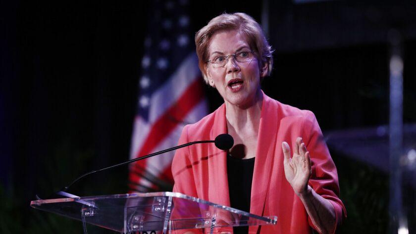 Sen. Elizabeth Warren says the Democratic presidential primary should not be decided by billionaires.