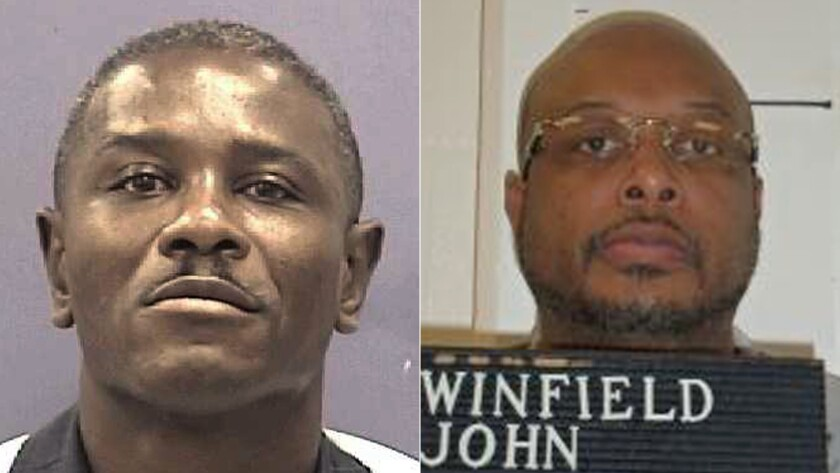 Marcus Wellons, 59, left, was executed in Georgia and John Winfield, 46, in Missouri. Both had appealed to the U.S. Supreme Court.