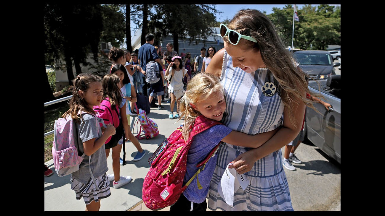Photo Gallery:  Palm Crest Elementary School  first day of school 2018