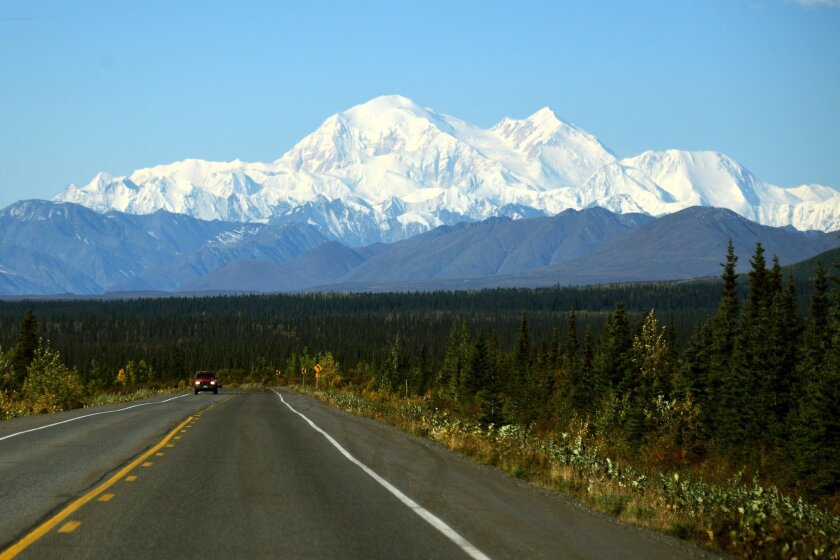 A view of Denali, formerly known as Mt. McKinley, on Sept. 1 in Denali National Park, Alaska.