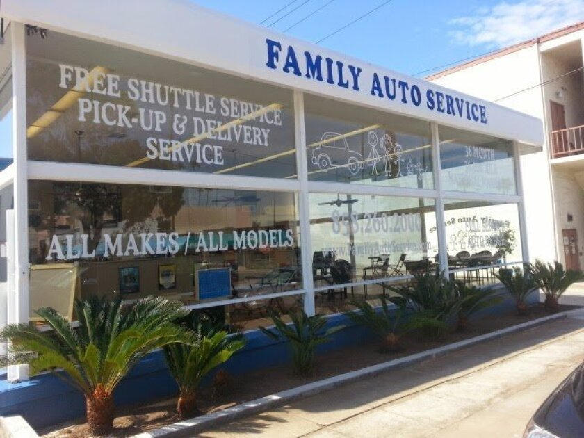 Family Auto Service is located at 1027 Virginia Way, La Jolla, in the former Heinz Gietz building.