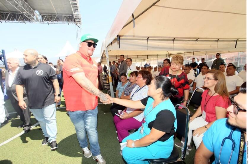 Andy Ruiz de visita en Monterrey.