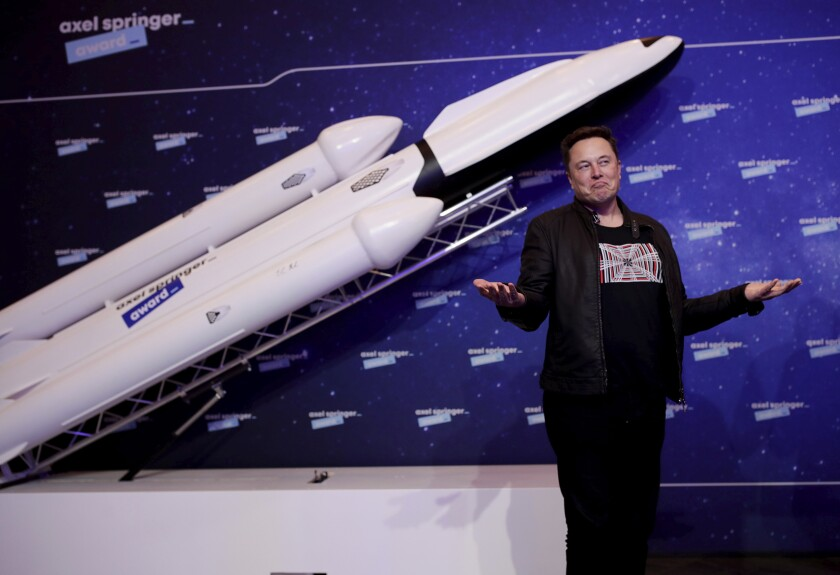 SpaceX and Tesla's Elon Musk on a red carpet in Berlin