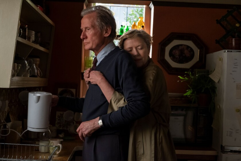 Bill Nighy and Annette Bening in the movie 'Hope Gap'