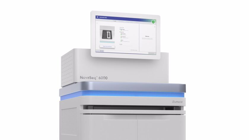 Illumina's new NovaSeq system of top-line DNA sequencers.