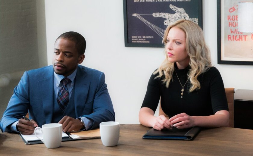 "Dulé Hill and Katherine Heigl in ""Doubt."" CBS has pulled the legal drama after just two episodes."