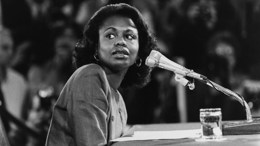 "Anita Hill at Clarence Thomas Hearings""n"