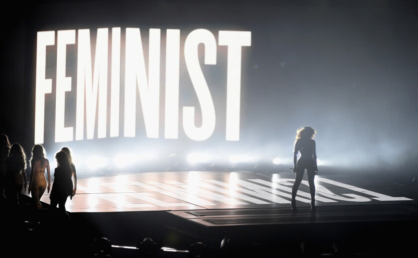 Beyonce has threaded themes of feminism into her music and performances.