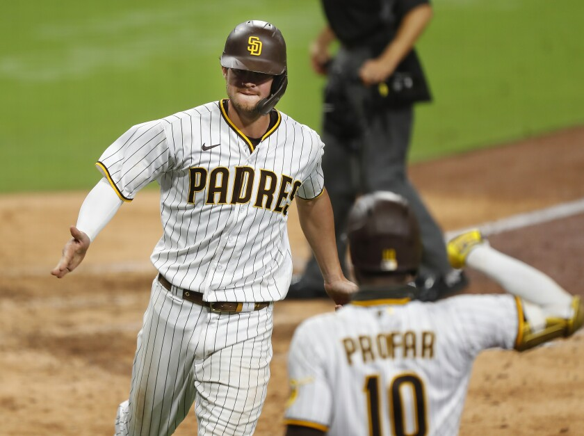 Wil Myers celebrates homer