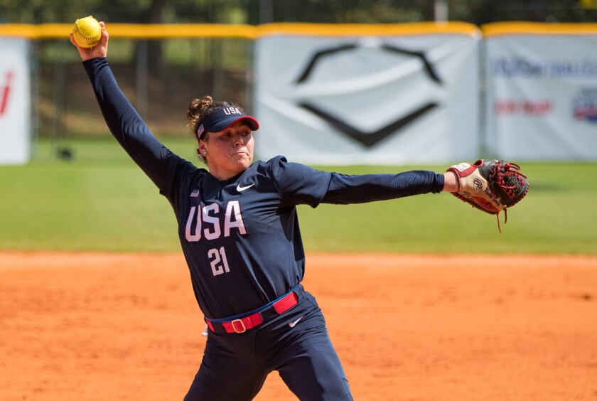 UCLA pitcher Rachel Garcia is getting ready for a trip to the Olympics with her college teammate Bubba Nickles.