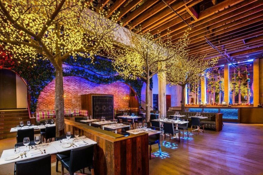 The interior of Parq Restaurant in downtown San Diego.