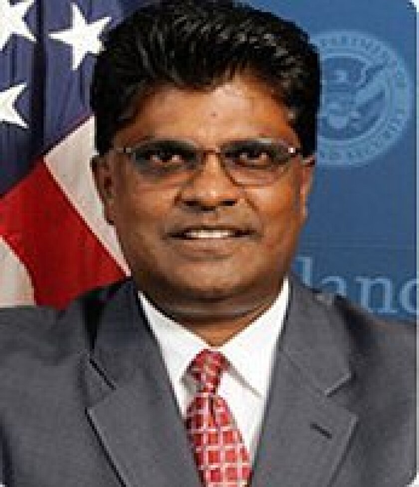 This undated photo obtained from the Department of Homeland Security shows former Acting Inspector General Charles Edwards. A Senate subcommittee says Edwards was too cozy with the political appointees of President Barack Obama whose activities he was supposed to oversee. A 27-page report from a Senate homeland security subcommittee says Charles Edwards improperly rewrote, delayed or classified reports to accommodate the department. It says he also asked for guidance from senior Homeland Security Department officials instead of his own staff. (AP Photo/Homeland Security)