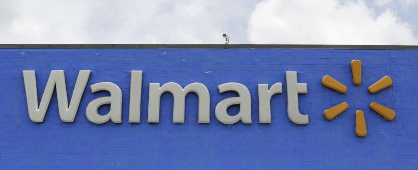 This Thursday, June 1, 2017, photo shows a Walmart in Hialeah Gardens, Fla. Wal-Mart Stores, Inc. reports earnings, Thursday, Aug. 17, 2017. (AP Photo/Alan Diaz)