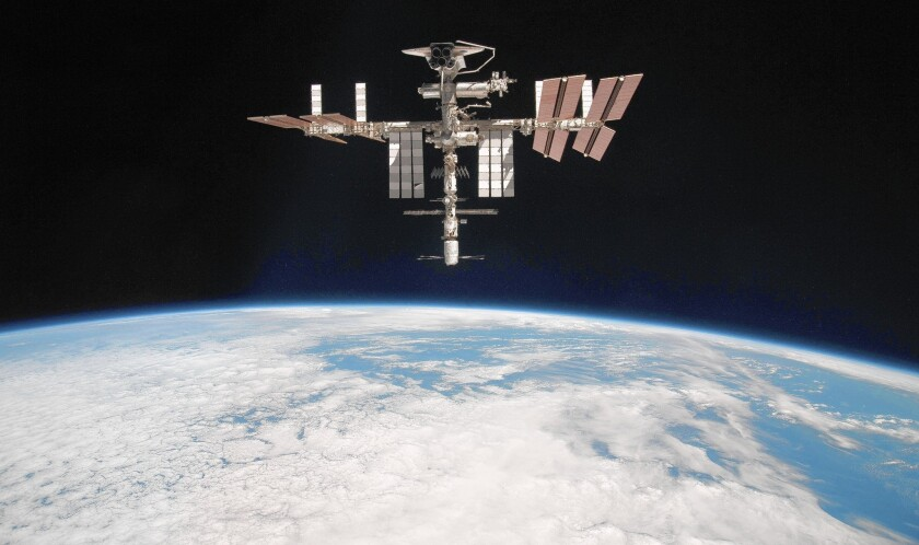 The International Space Station on May 23, 2011.