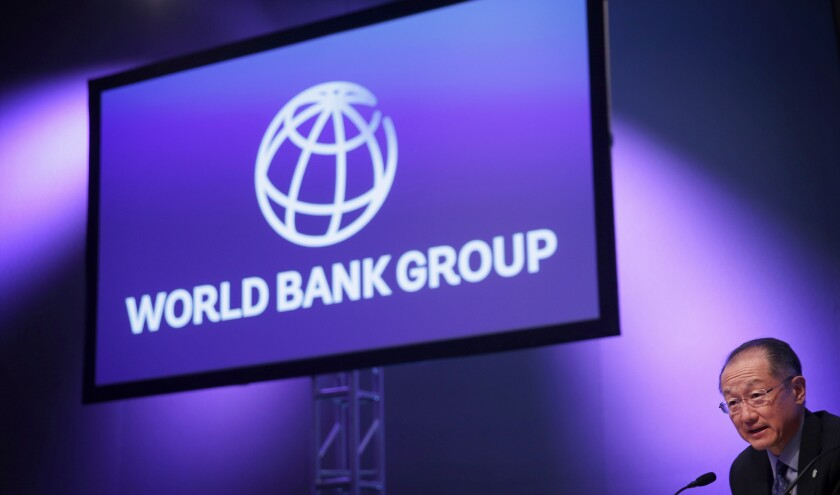 World Bank Group President Jim Yong Kim speaks in Washington on April 16. According to a newly released report, since 2004 World Bank projects have displaced or economically harmed 3.4 million people.