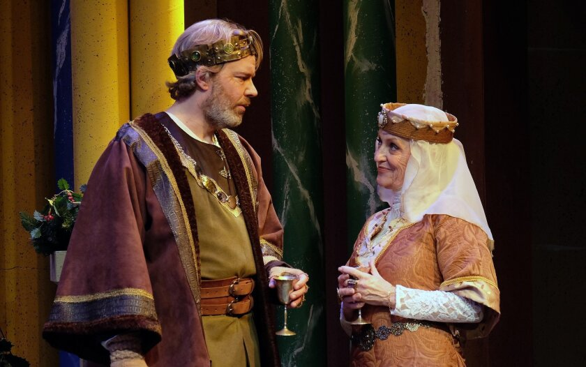 """Jason Heil and Dagmar Krause Fields in Moonlight Stage Productions' """"The Lion in Winter."""""""