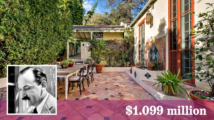 The onetime home of writer Nathanael West was built in 1924 and sits behind gates.