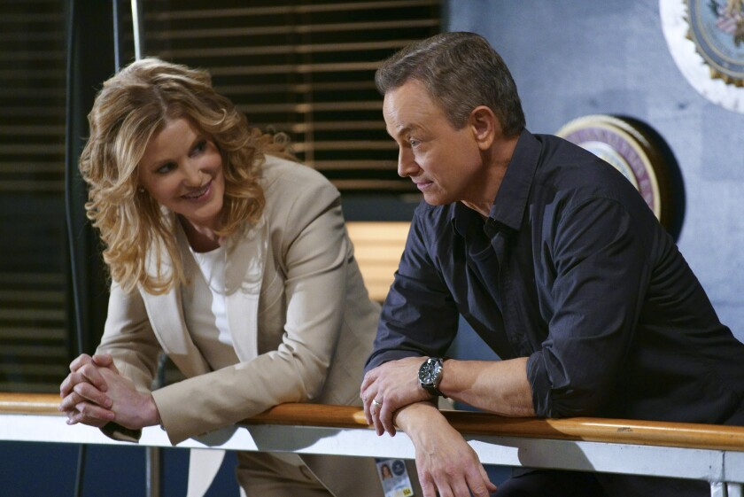 """Anna Gunn and Gary Sinise in a scene from """"Criminal Minds"""" earlier this season. A spinoff of the crime drama coming to CBS will star Sinise."""