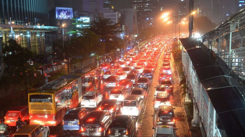 Traffic was bad during the morning rush hour, but it was even worse at night, researchers found.