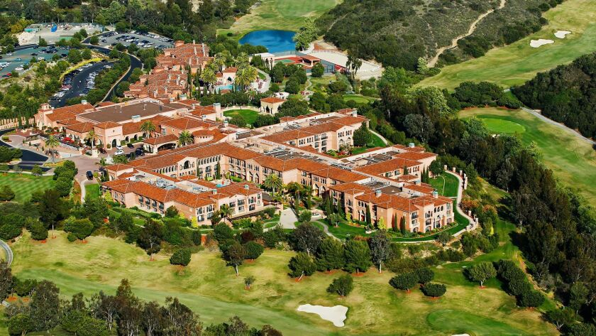 The Grand Del Mar, a 5-star resort, is surrounded an eighteen hole golf course.