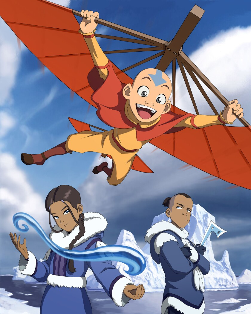 """Aang, Katara and Sokka from """"Avatar: The Last Airbender"""""""