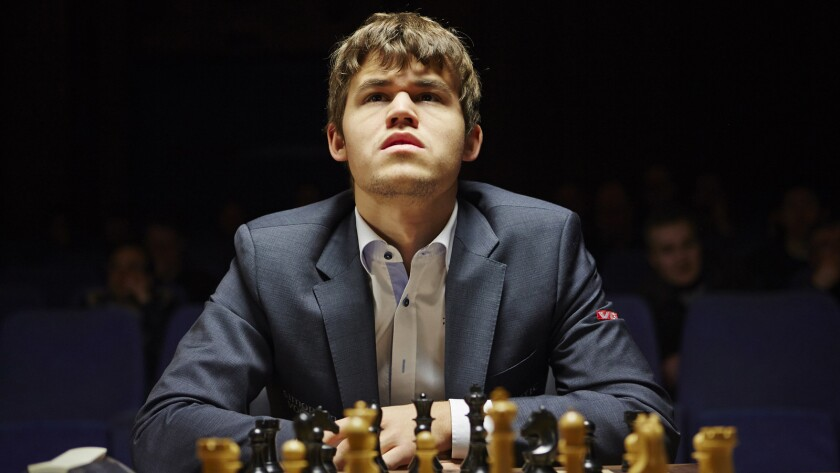 "Magnus Carlsen at the 2013 FIDE Chess Candidates Tournament from the documentary ""Magnus."""