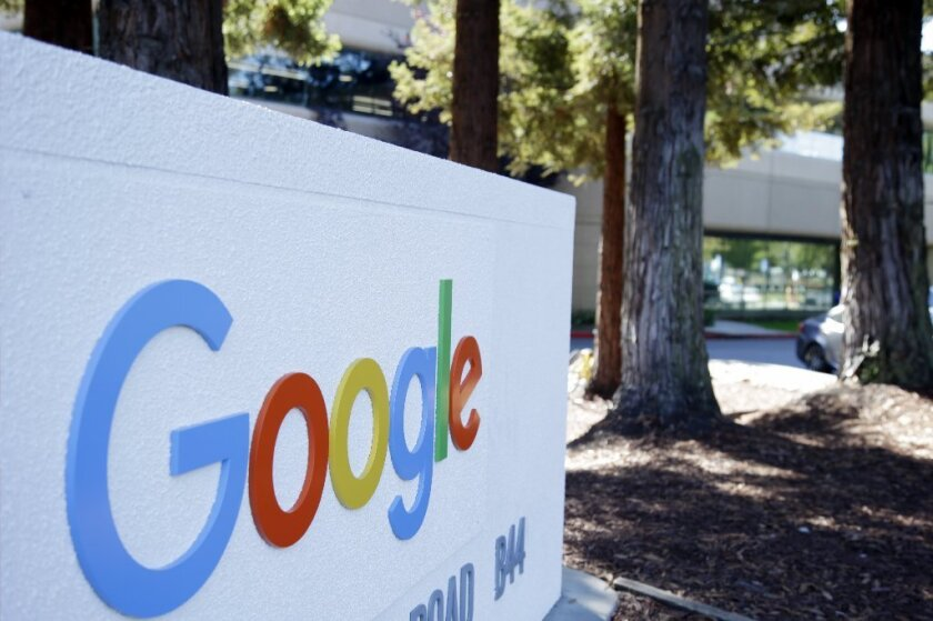 The latest version of Google's map app allows users to download city maps so that streets and businesses will be stored on their mobile devices. Above, the company's headquarters in Mountain View.
