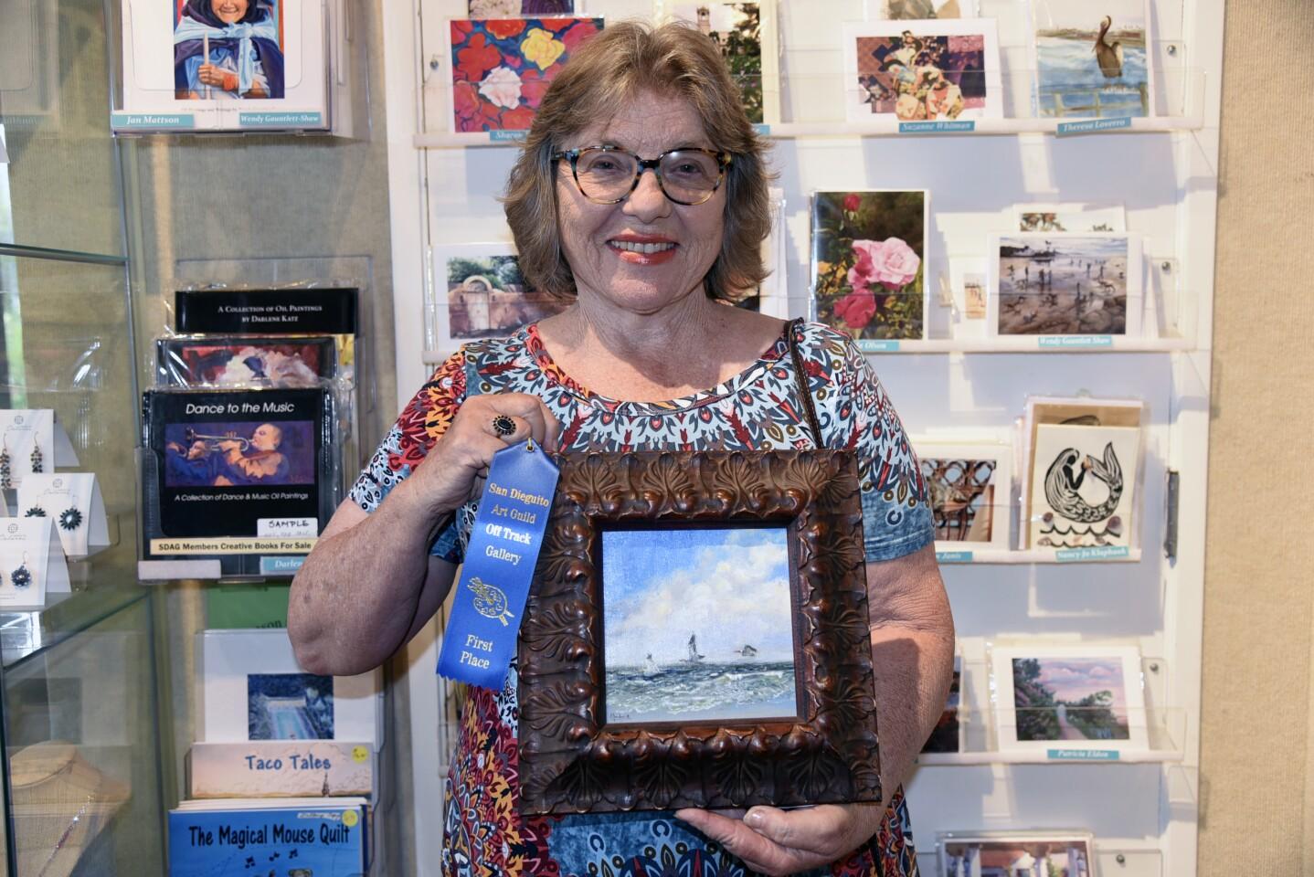First place Oil 'Early Flight', artist Gloria Chadwick