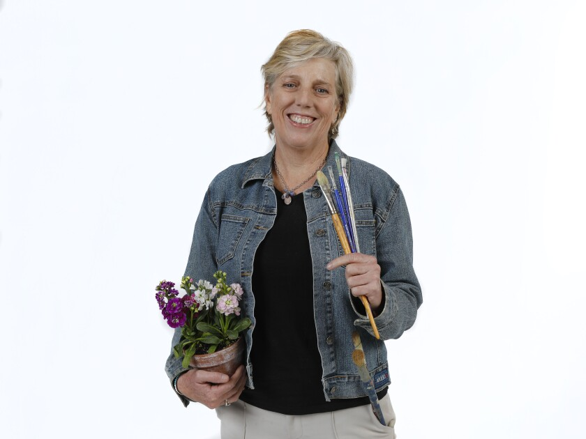 """Prudence Horne is a visual artist whose exhibition, """"Prudence Horne: Garden Plots,"""" is being featured alongside the work of artist Sandy Hagy-Boyer, March 14 through May 2, at Athenaeum Music & Arts Library in La Jolla."""