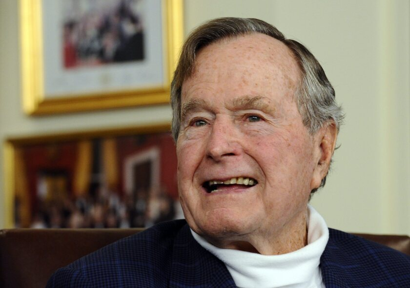 Former President George H.W. Bush in his office in Houston in 2012.