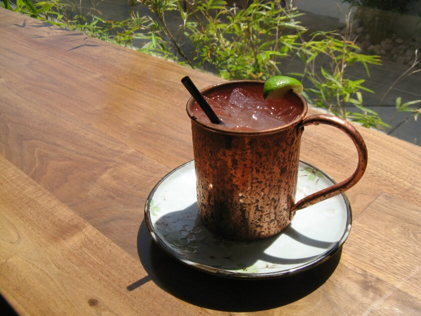 Blue Ocean's Moscow Mule cocktail has an Asian twist.