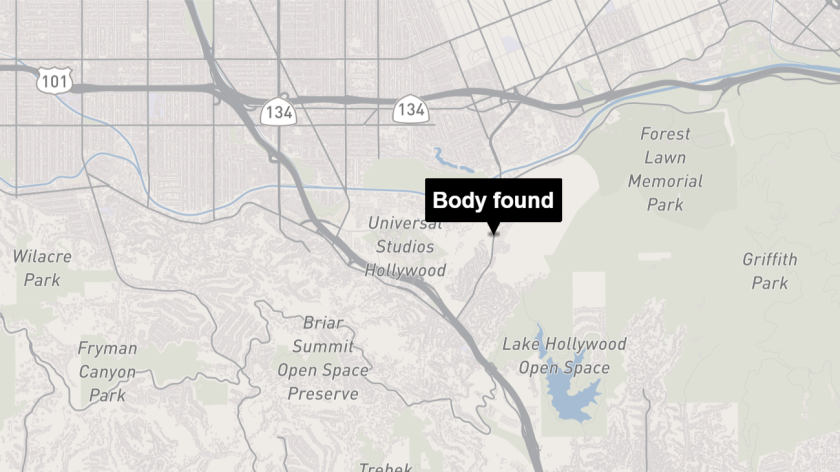 The body was found near the Cahuenga Pass in the Hollywood Hills.