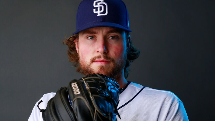 San Diego Padres pitcher Carter Capps on Feb. 21, 2018.