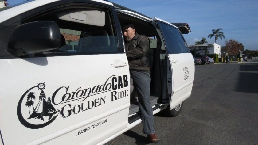 Costas Manthos, 57, relies on the Coronado Cab Co. to get to the grocery store, doctors' appointments and the bank. Manthos is partially blind and cannot drive and the cab company is his main source of transportation in Coronado.