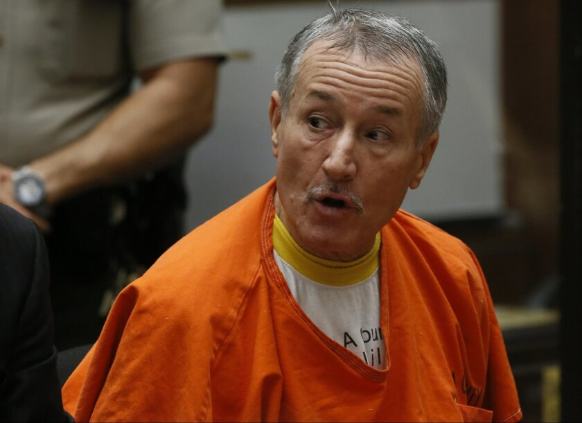 FILE - In this Nov. 15, 2013, photo, former Los Angeles teacher Mark Berndt, 62, pleads no contest during his change-of-plea hearing in Los Angeles Superior Court. Federal agencies aren't doing enough to track incidents of sexual abuse committed by school personnel and should better educate distric