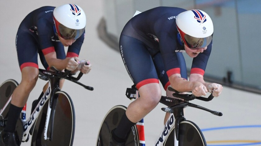Britain defends its cycling title but U.S. is getting closer