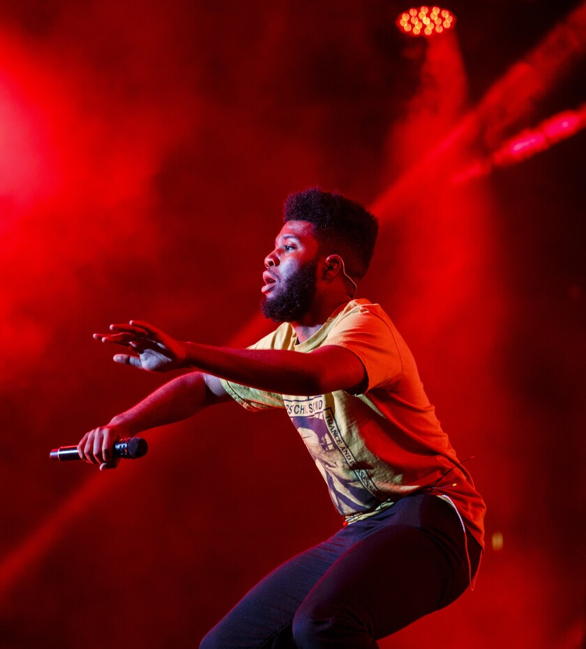 LOS ANGELES, CA - JUNE 23, 2017 - Khalid performing on the 2nd night of the STAPLES Center Concert,