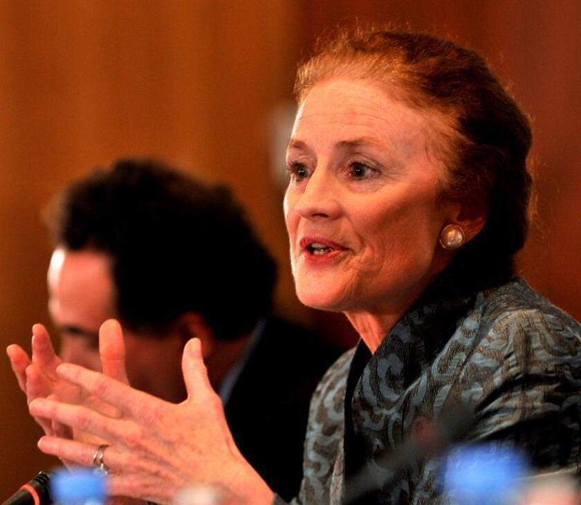 Fotografía en donde se observa a Henrietta Fore, directora ejecutiva de Unicef. EFE/Archivo