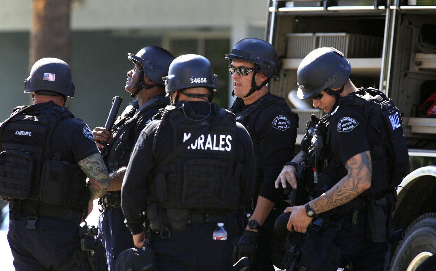 A gunman opened fire Friday afternoon in Studio City, prompting a massive police response. People sheltered in place in businesses as the investigation continued. Laurel Canyon and Ventura boulevards are closed.