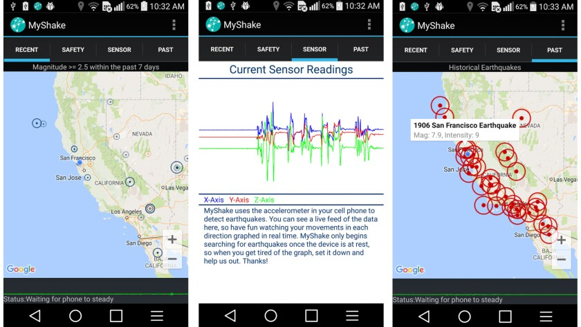 The MyShake earthquake app uses cellphones to detect earthquakes as soon as they start. Scientists hope that by turning mobile phones into vast data collection points, they can quickly glean information about the quakes and warn those farther away from the epicenter that shaking is on the way.