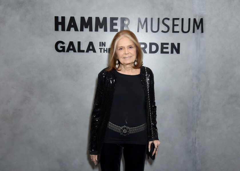 Presenter Gloria Steinem at the Hammer Museum's Gala in the Garden.
