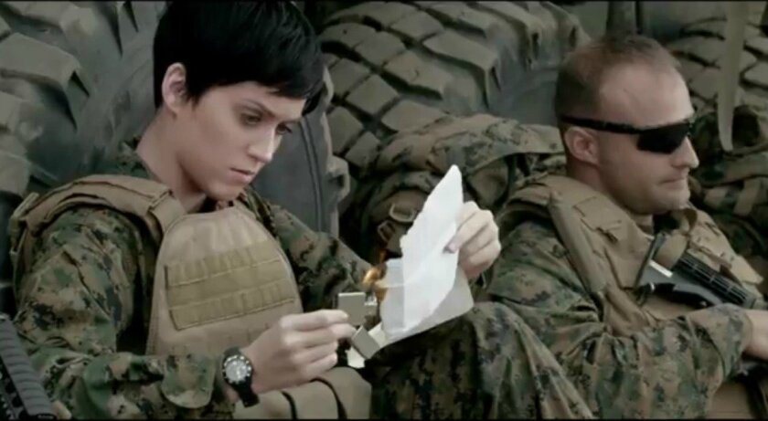 """Katy Perry's """"Part of Me"""" video, released Wednesday, March 21, was shot over three days in February at Camp Pendleton."""