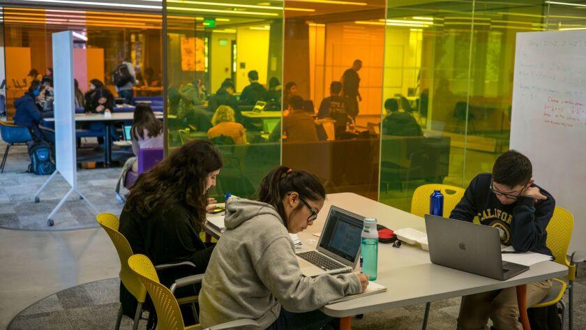 JANUARY 24, 2017 BERKELEY, CALIFORNIA Students at the University of California at Berkeley work in