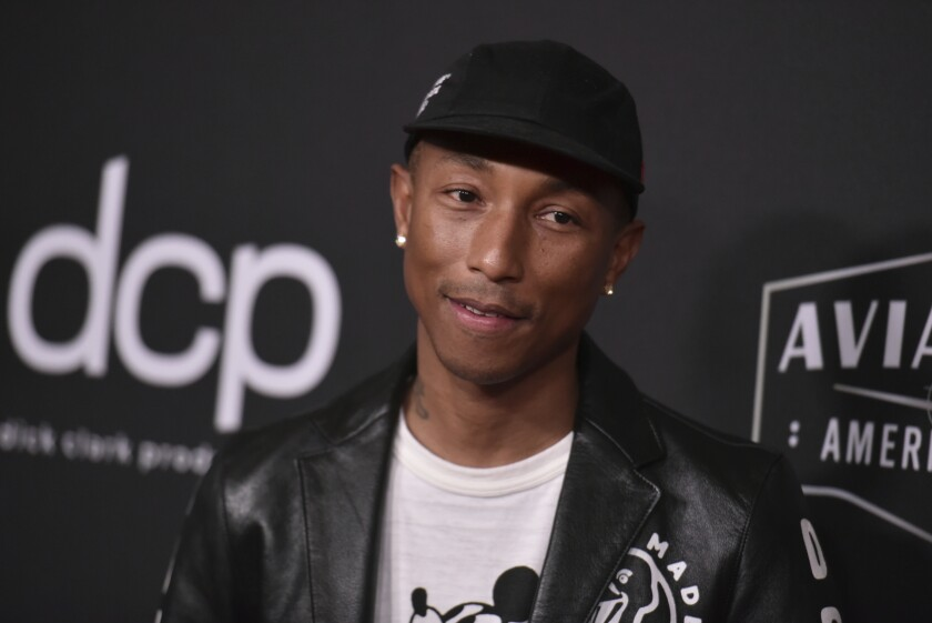 Pharrell Williams arrives at the 23rd annual Hollywood Film Awards in Beverly Hills, Calif.  in 2019.